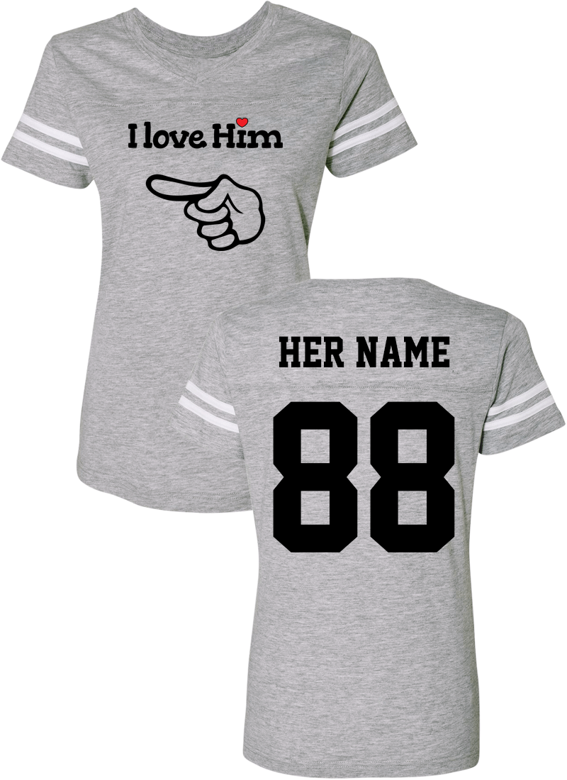 I love Her & Him - Couple Cotton Jerseys