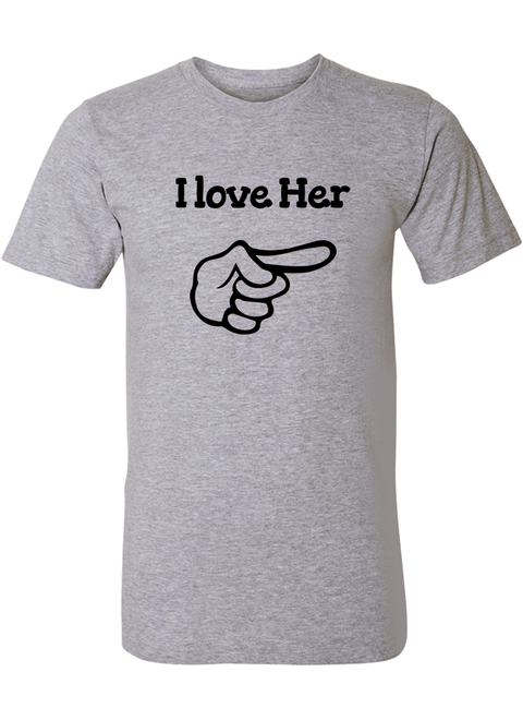 I love Her & Him - Couple Shirts