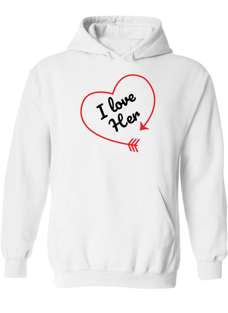 I love Her & Him - Couple Hoodies