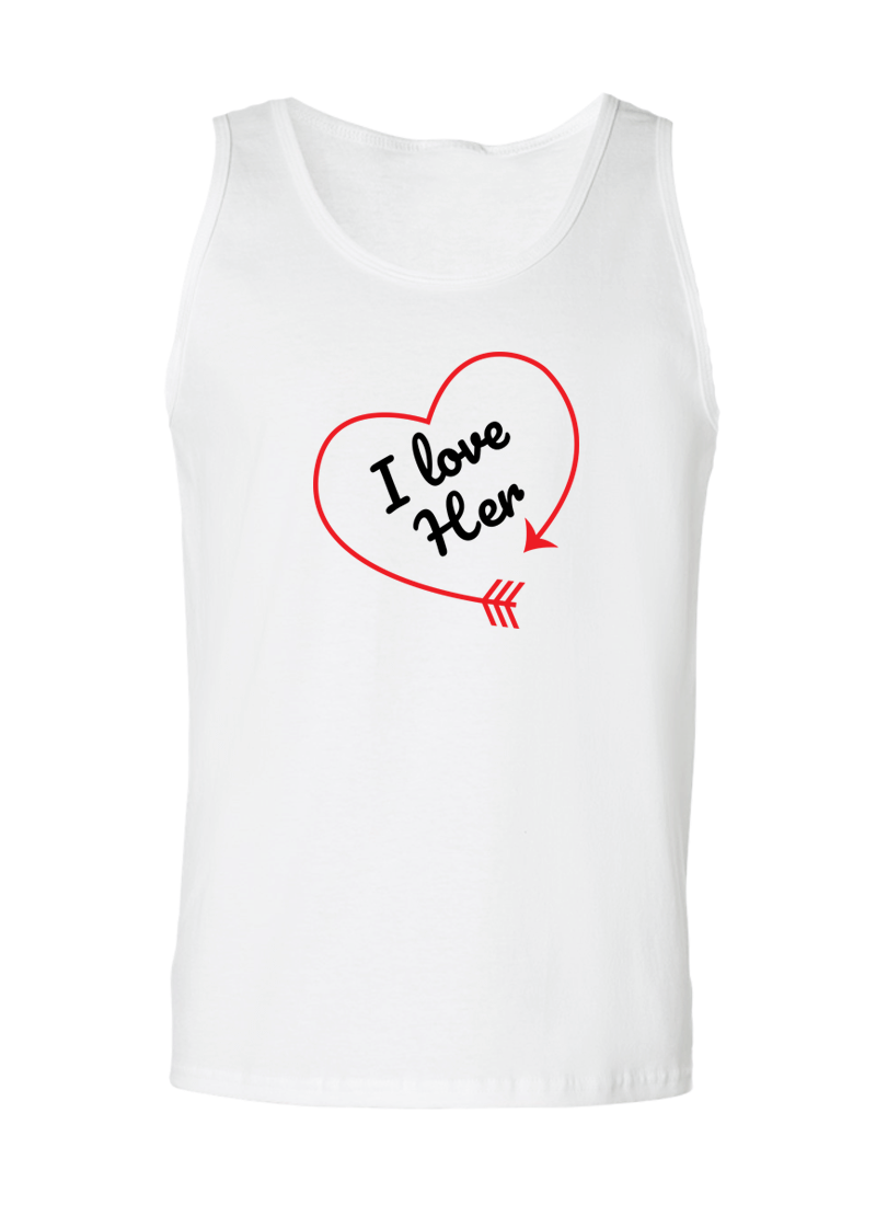 I love Her & Him - Couple Tank Tops