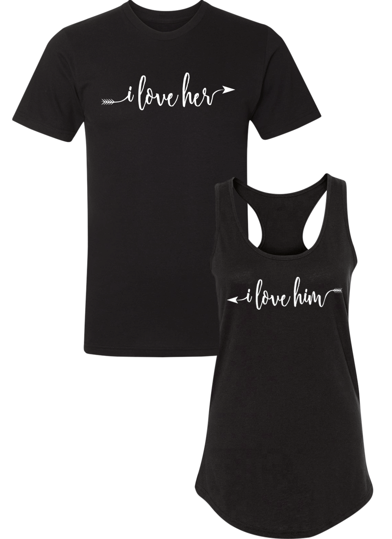 I love Her & Him - Couple Shirt Racerback