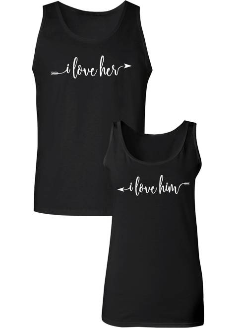 I love Her & Him Couple Tanks