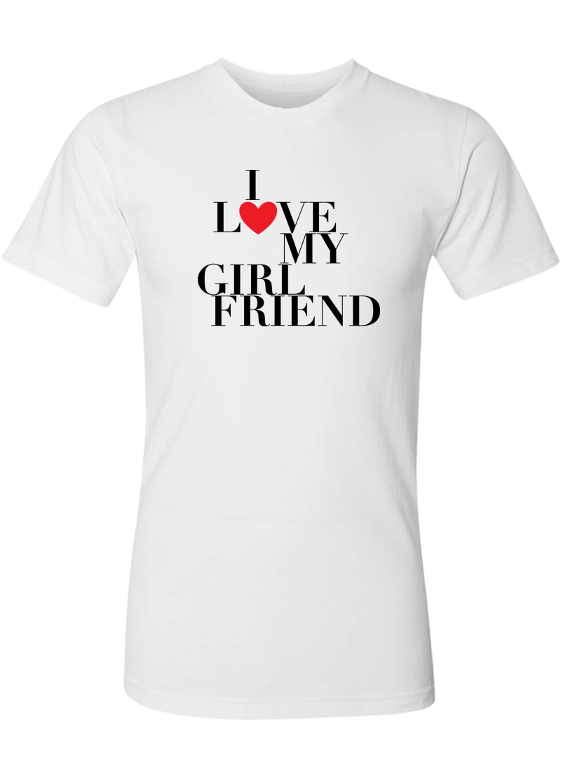 I Love My Girlfriend & Boyfriend - Couple Shirt & Racerback