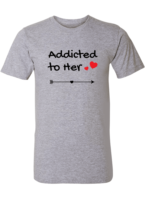Addicted To Her & Him - Couple Shirt & Racerback