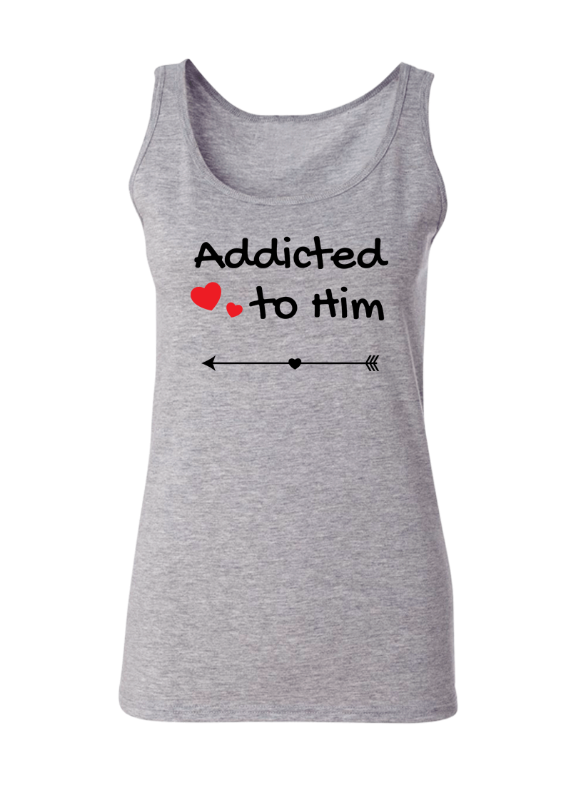 Addicted To Her & Him - Couple Tank Tops