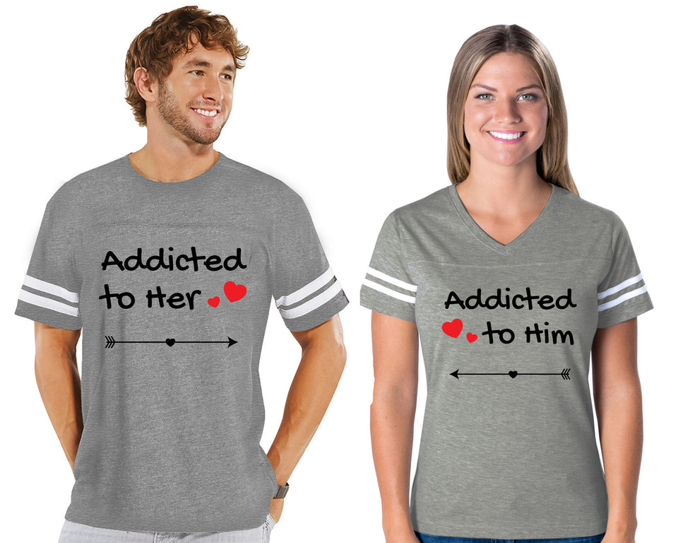 Addicted To Her & Him - Couple Cotton Jerseys