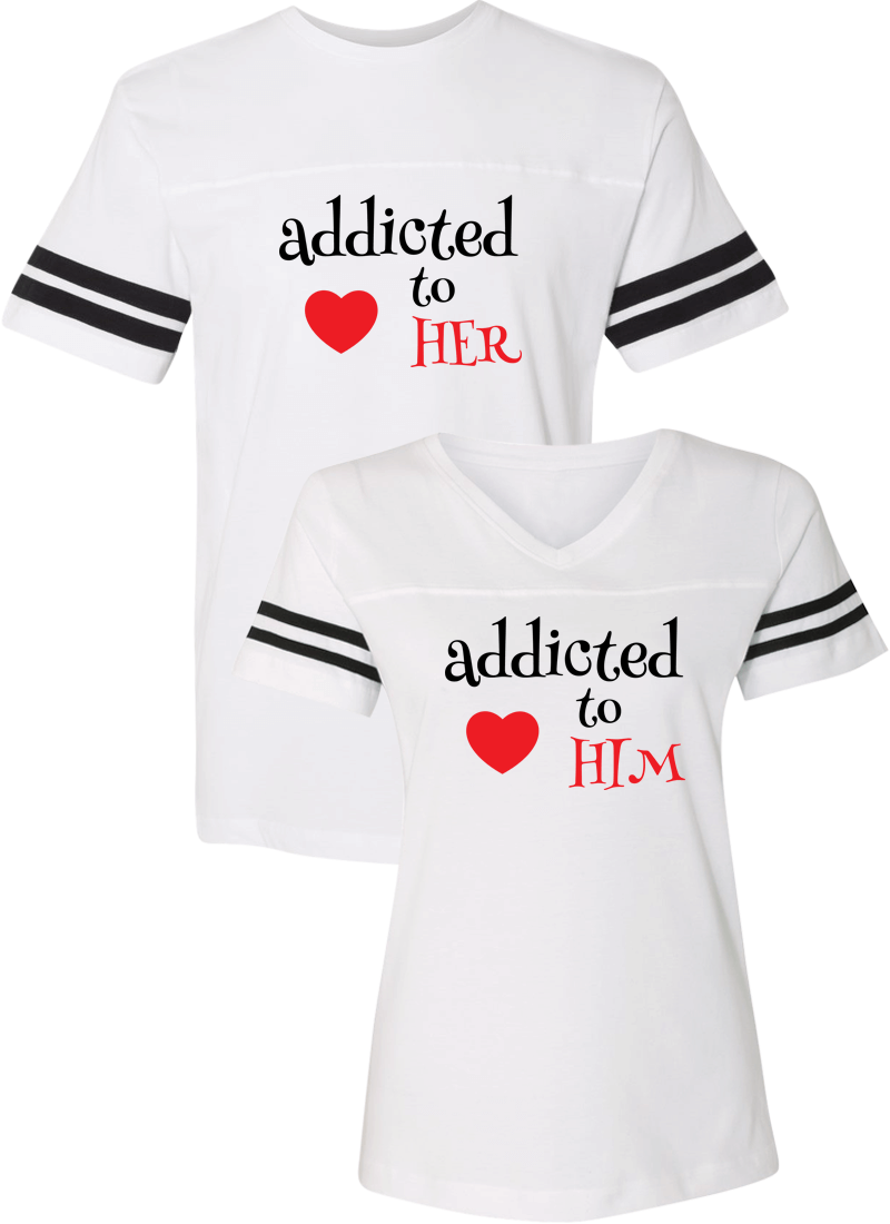 Addicted To Her & Him Couple Sports Jersey