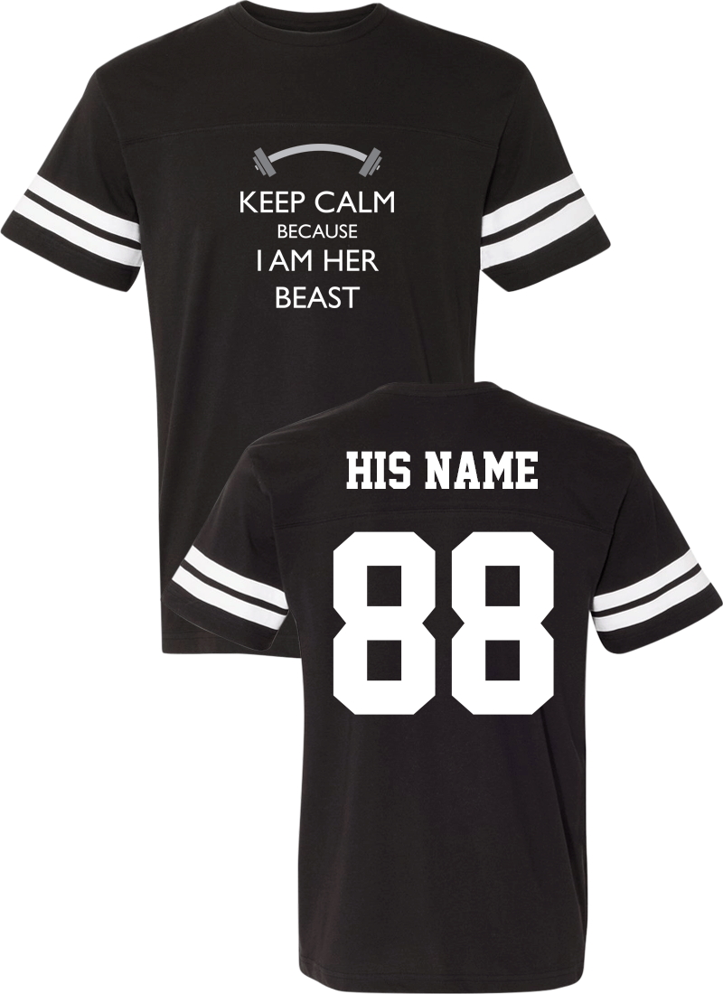Keep Calm Because I Am Her Beast & His Beauty - Couple Cotton Jerseys