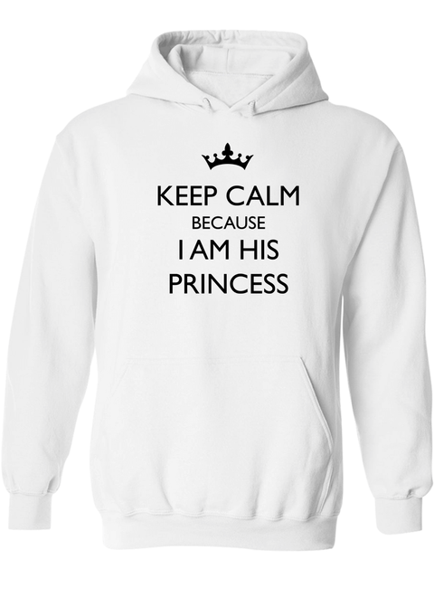 Keep Calm Because I Am Her Prince & His Princess - Couple Hoodies
