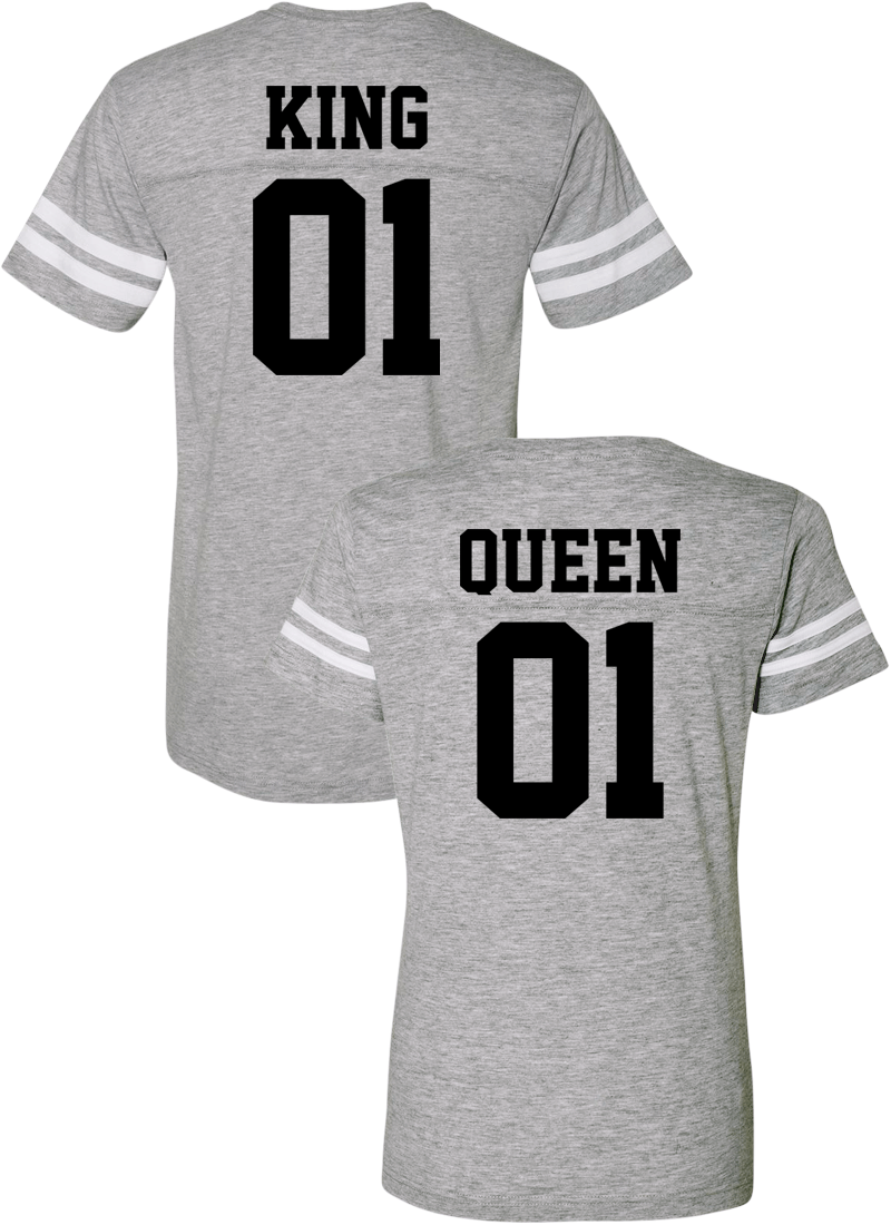 King 01 & Queen 01 Couple Sports Jersey