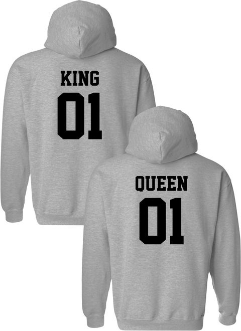 King 01 & Queen 01 Matching Couple Hoodies
