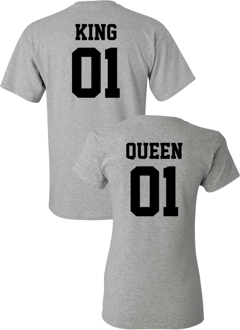 King 01 & Queen 01 Couple Matching Shirts
