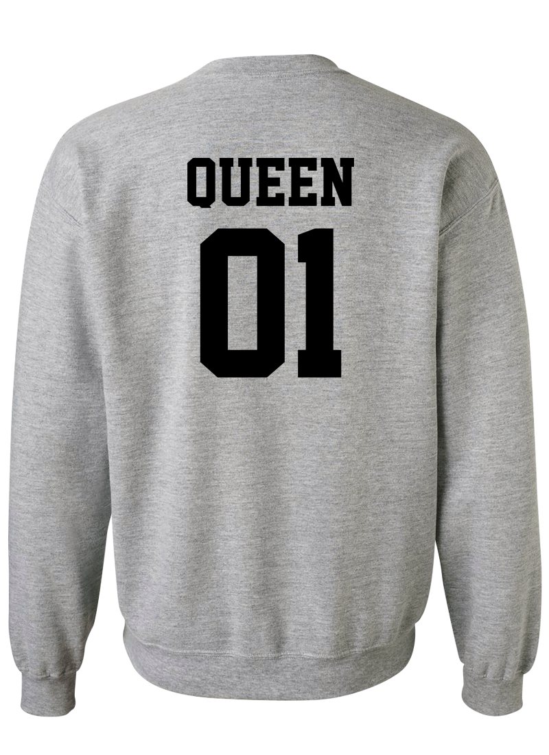 King 01 & Queen 01 - Couple Sweatshirts