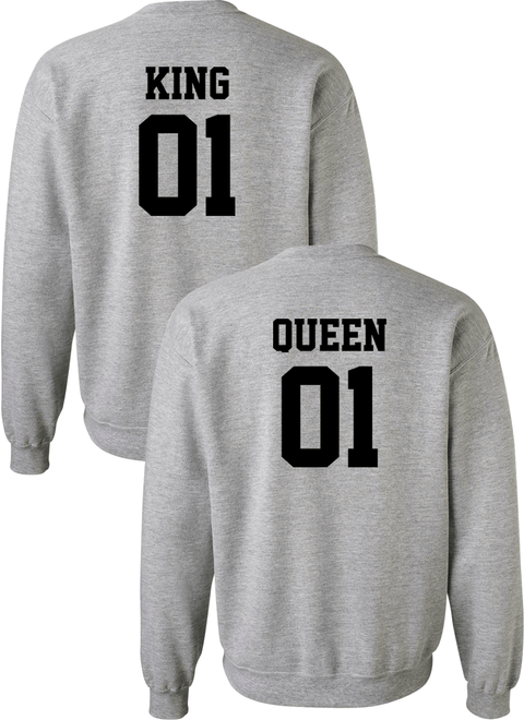 King 01 & Queen 01 Couple Matching Sweatshirts