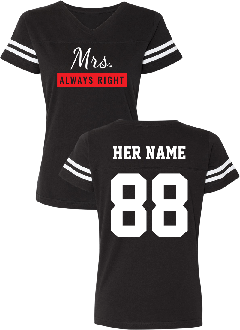 Mr. Never Right & Mrs. Always Right - Couple Cotton Jerseys