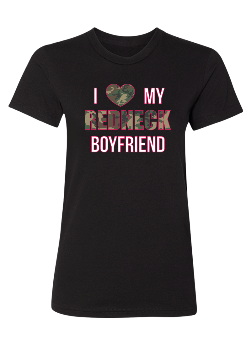I Love My Redneck Girlfriend & Boyfriend - Couple Shirts