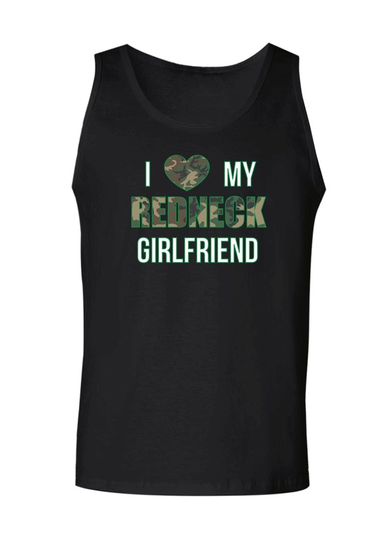 I Love My Redneck Girlfriend & Boyfriend - Couple Tank Tops