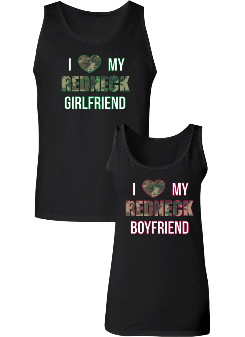 I Love My Redneck Girlfriend & Boyfriend Couple Tanks
