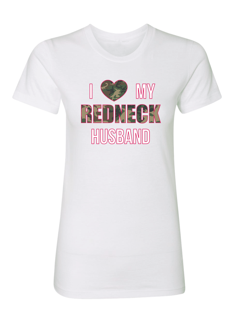 I Love My Redneck Wife & Husband - Couple Shirts