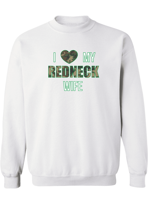 I Love My Redneck Wife & Husband - Couple Sweatshirts