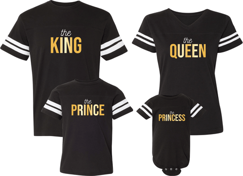 King Queen Prince & Princess Jerseys - Family Jerseys