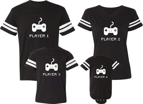 Player 1 Player 2 Player 3 Player 4 Jerseys - Family Jerseys