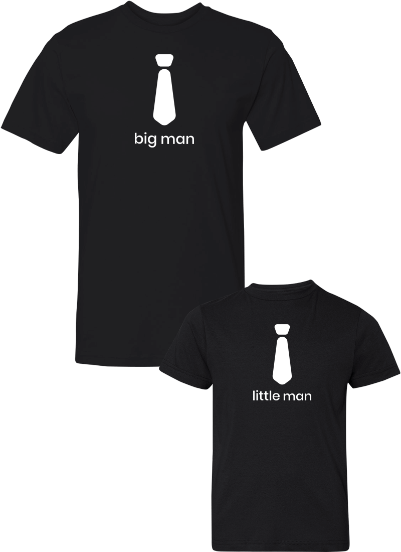 Big Man & Little Man - Dad & Kid Shirts - Family Shirts