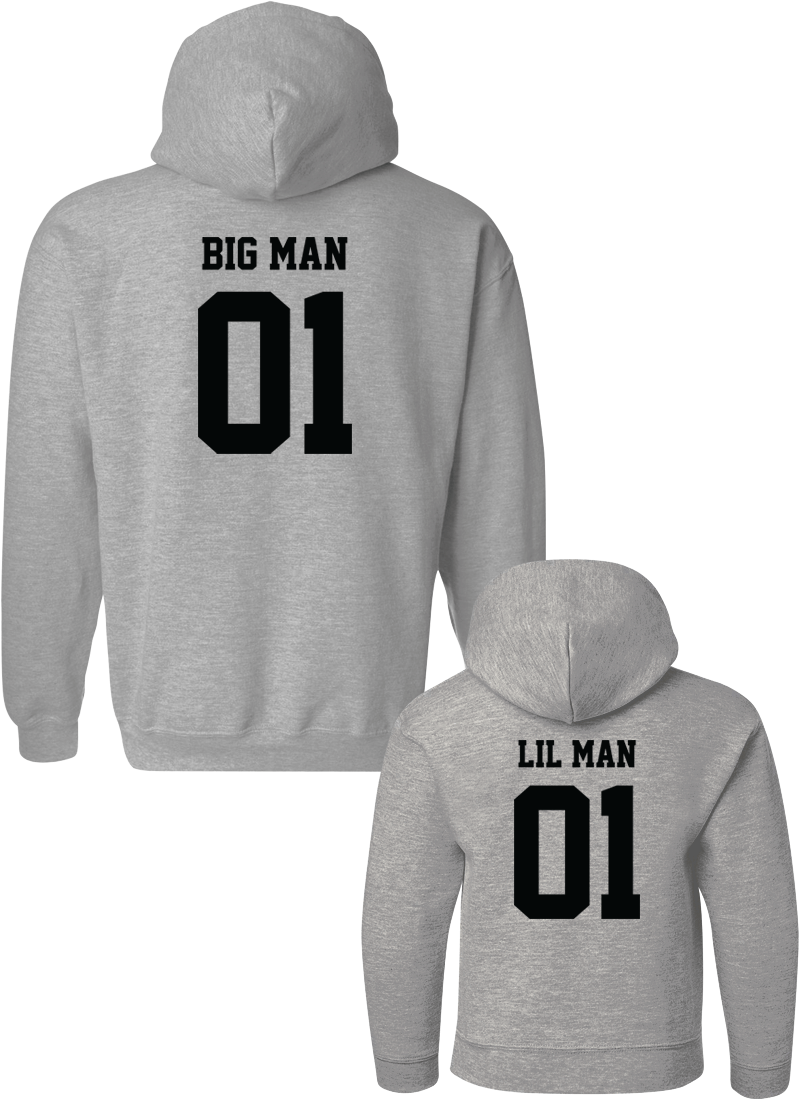 Big Man & Little Man - Dad & Kid Hoodies - Family Hoodies