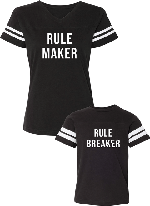 Rule Breaker & Rule Maker - Mom & Kid Jerseys - Family Jerseys