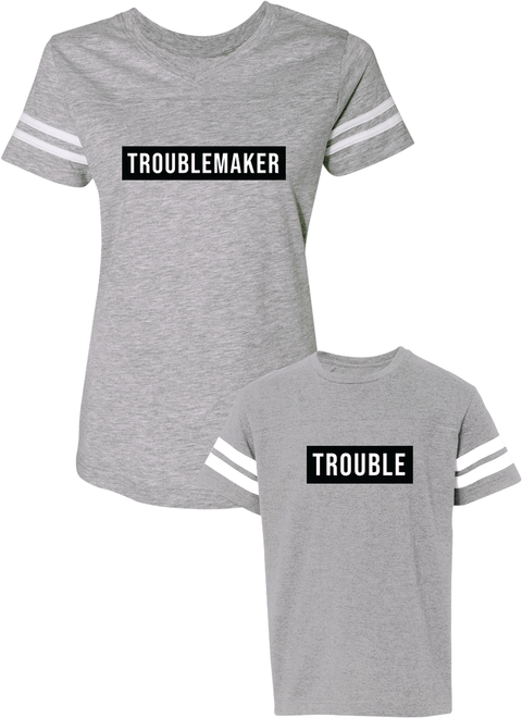 Trouble Maker & Trouble - Mom & Kid Jerseys - Family Jerseys