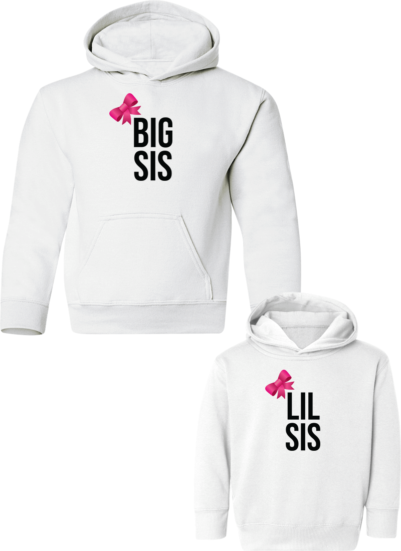 Big Sis & Lil Sis - Sister Hoodies - Family Hoodies