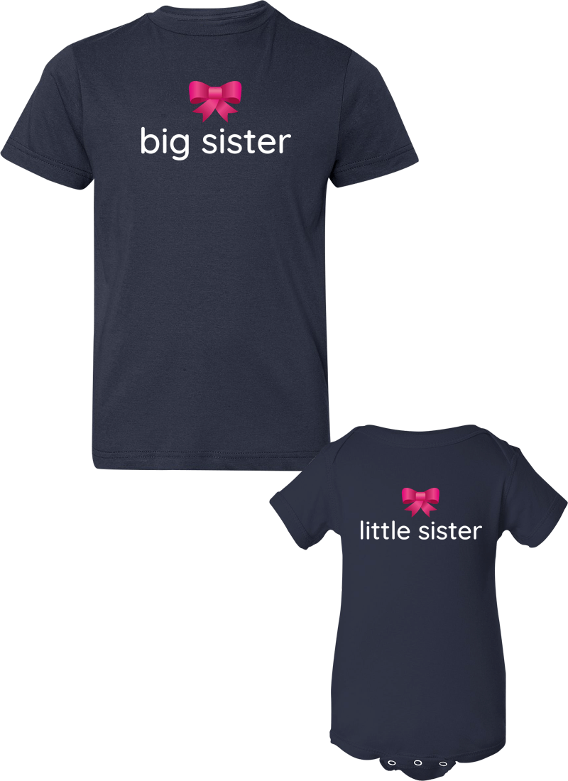 Big Sister & Little Sister - Sister Shirts - Family Shirts