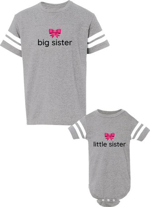 Big Sister & Little Sister - Sister Jerseys - Family Jerseys