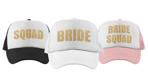 Block Letters - Bachelorette Party Trucker Hats