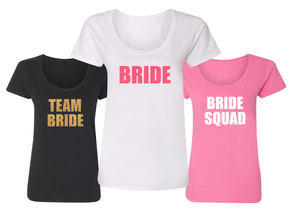 Block Letters - Bachelorette Party Shirts - Wedding Shirts