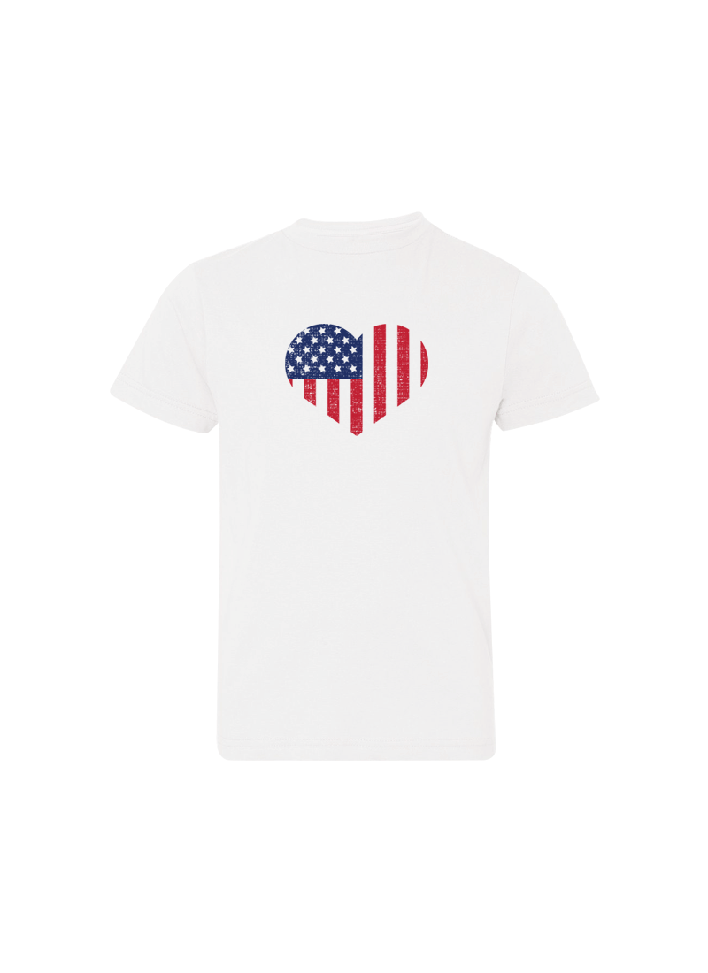 Heart Flag - 4th of July Shirts