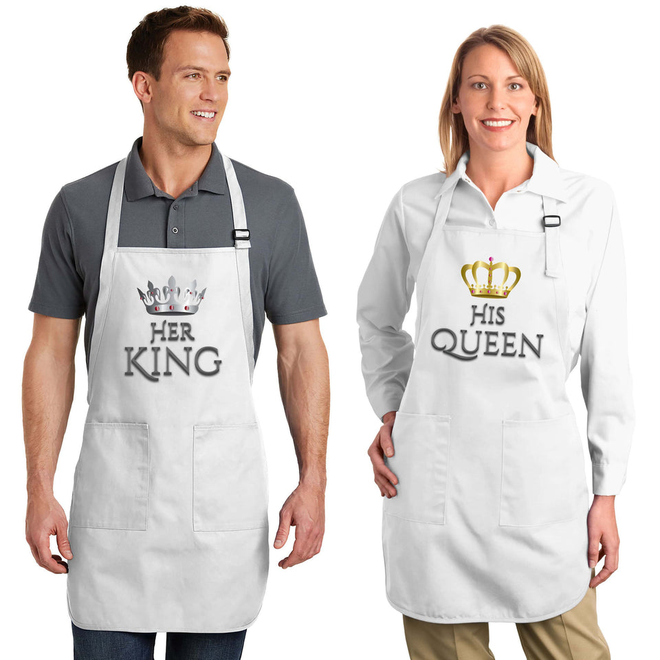 Her King & His Queen - Couple Aprons