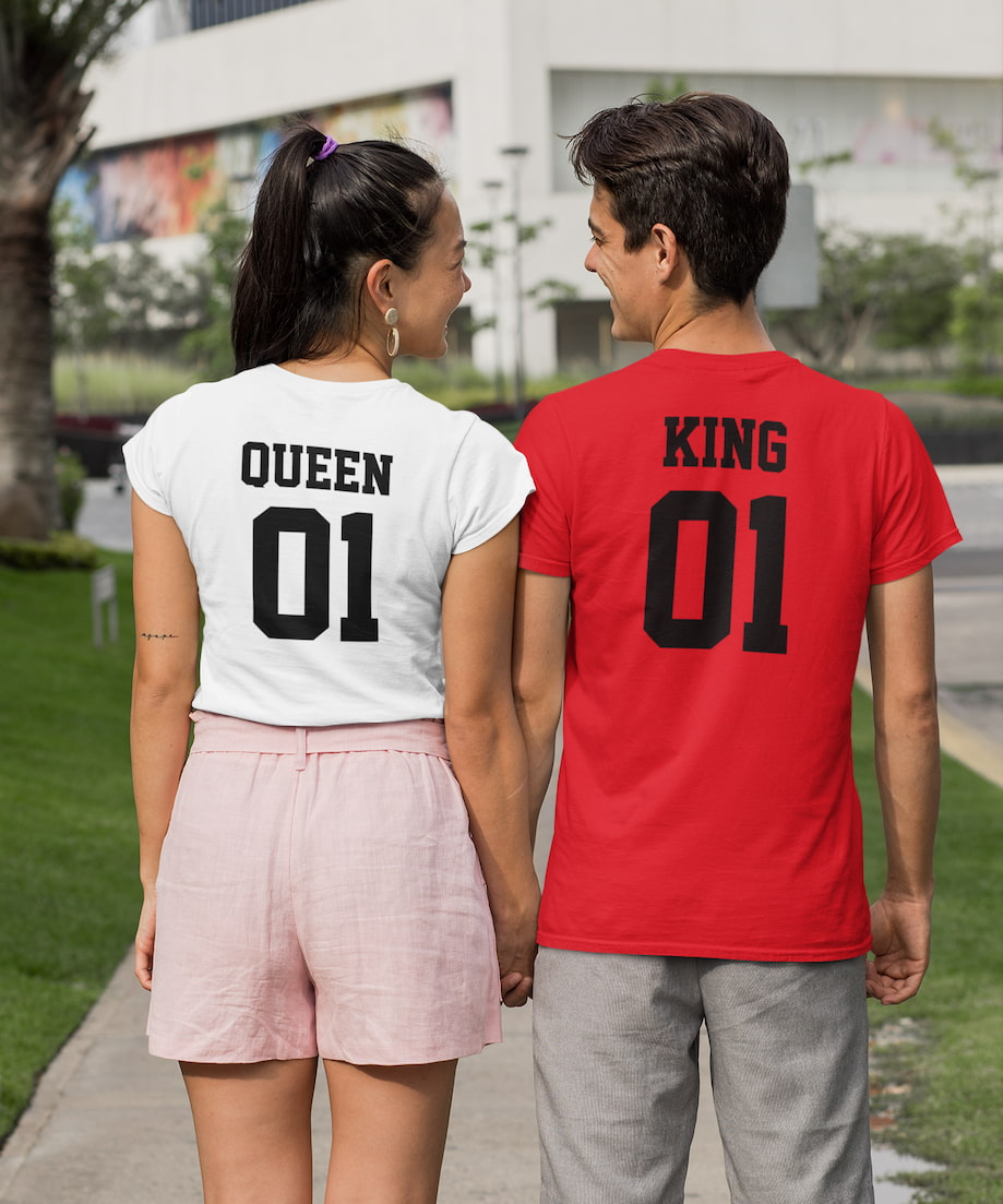 King 01 & Queen 01 - Couple Shirts