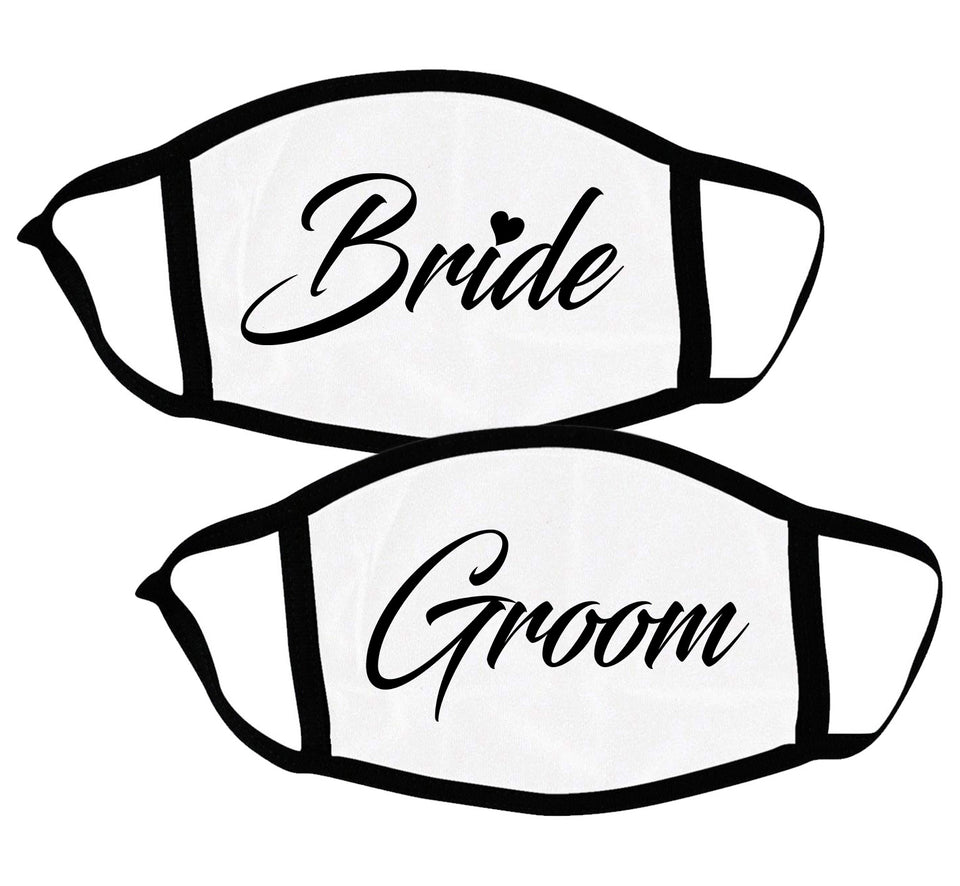 Bride & Groom - Couple Face Masks