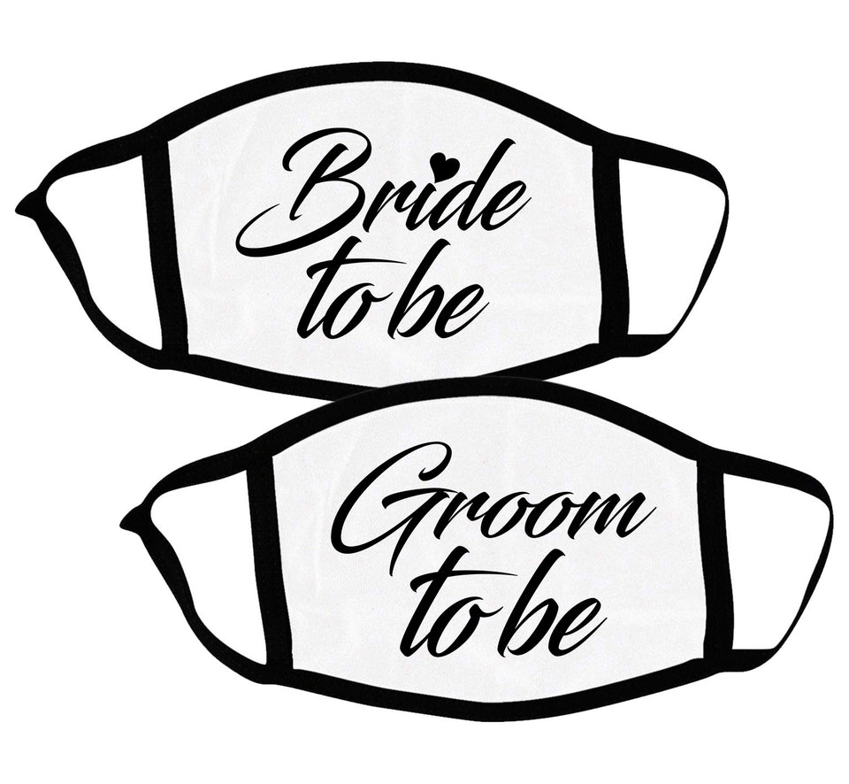 Bride & Groom To Be - Couple Face Masks