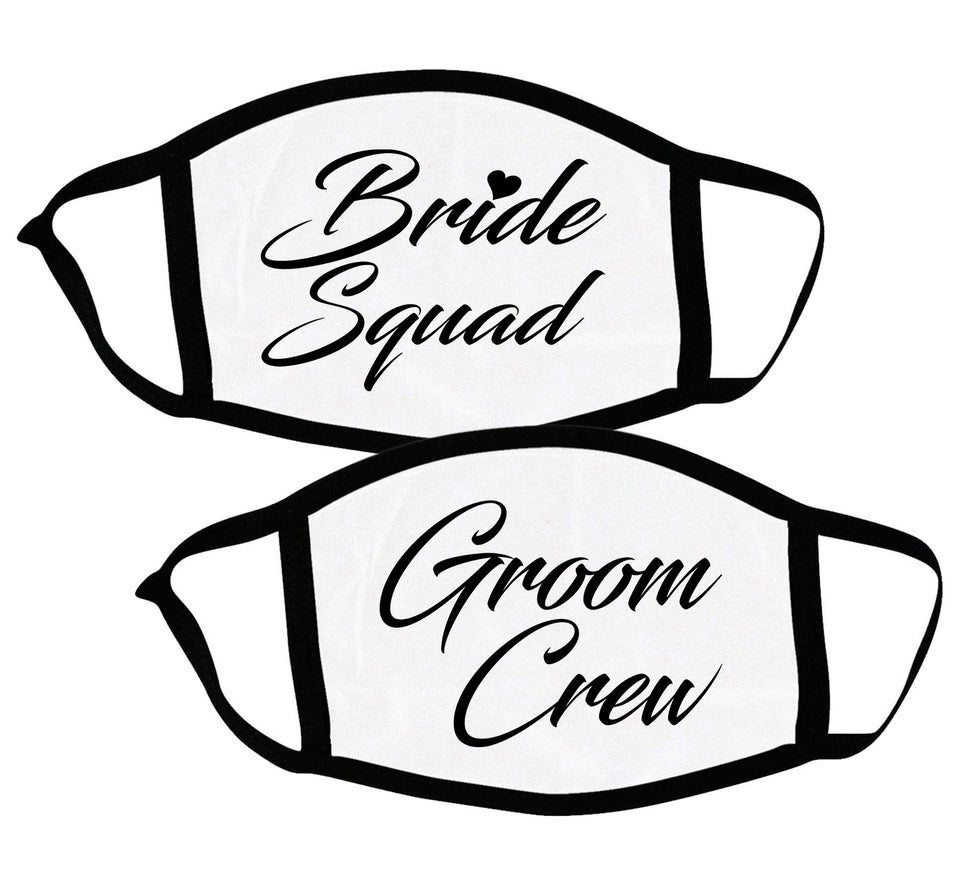 Bride Squad & Groom Crew - Couple Face Masks