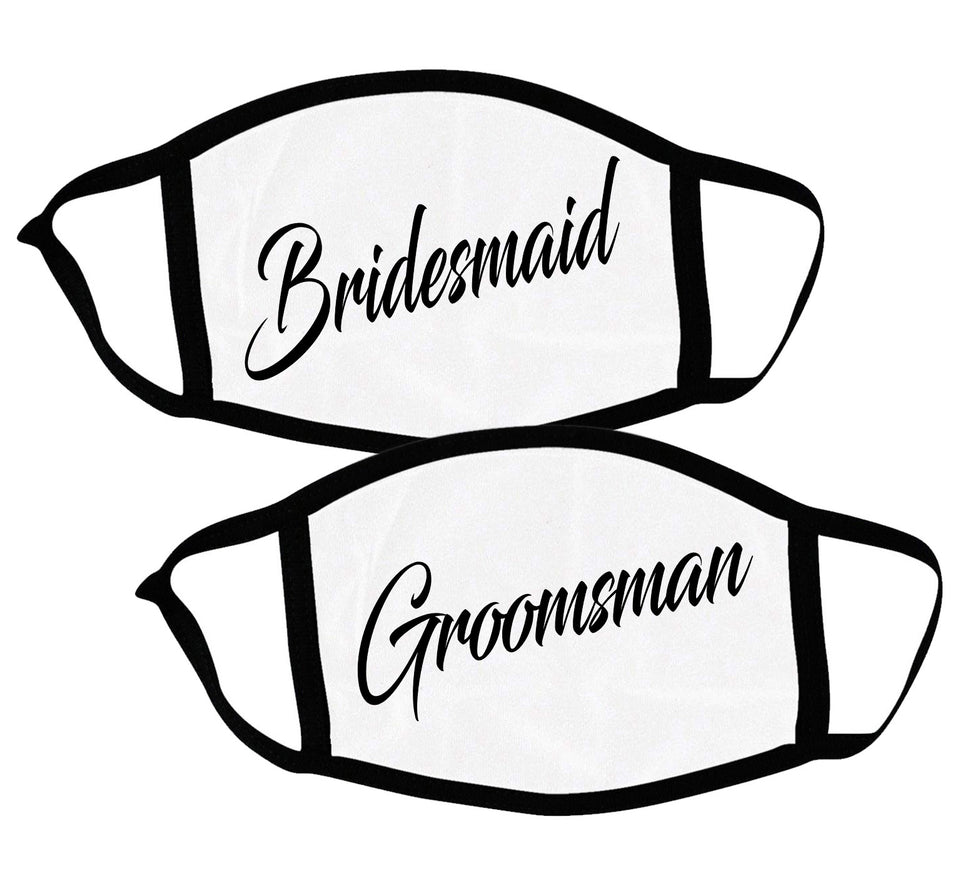 Bridesmaid & Groomsman - Couple Face Masks
