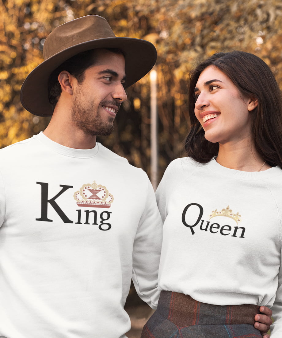 King & Queen - Couple Sweatshirts