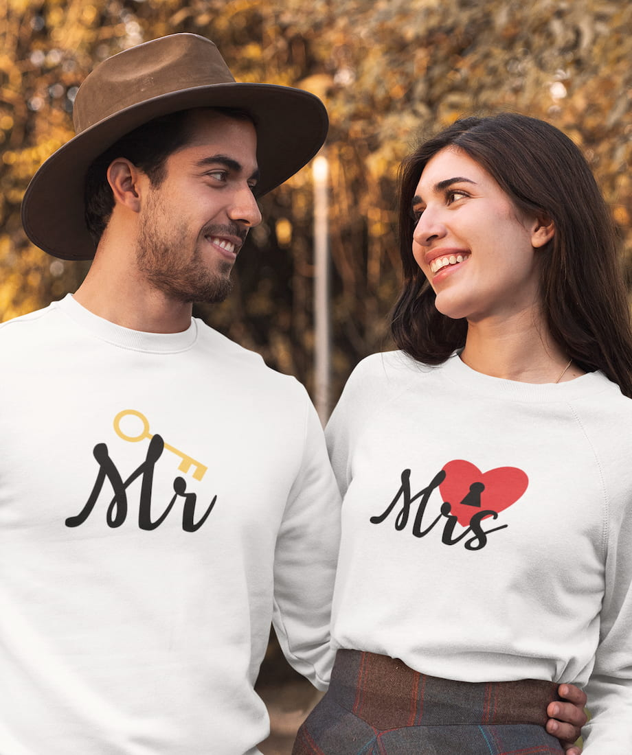 Mr. & Mrs. - Couple Sweatshirts
