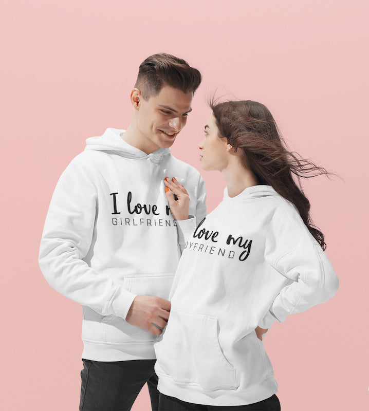 I Love My Girlfriend & Boyfriend - Couple Hoodies