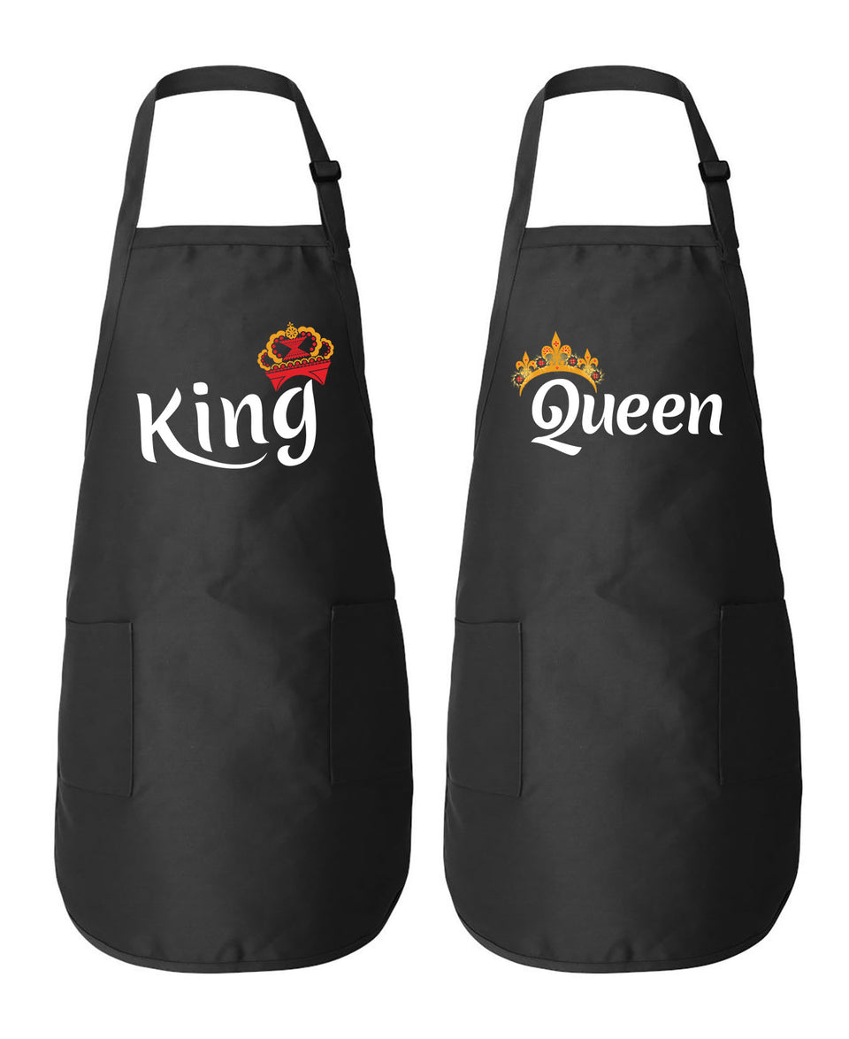 King & Queen - Couple Aprons