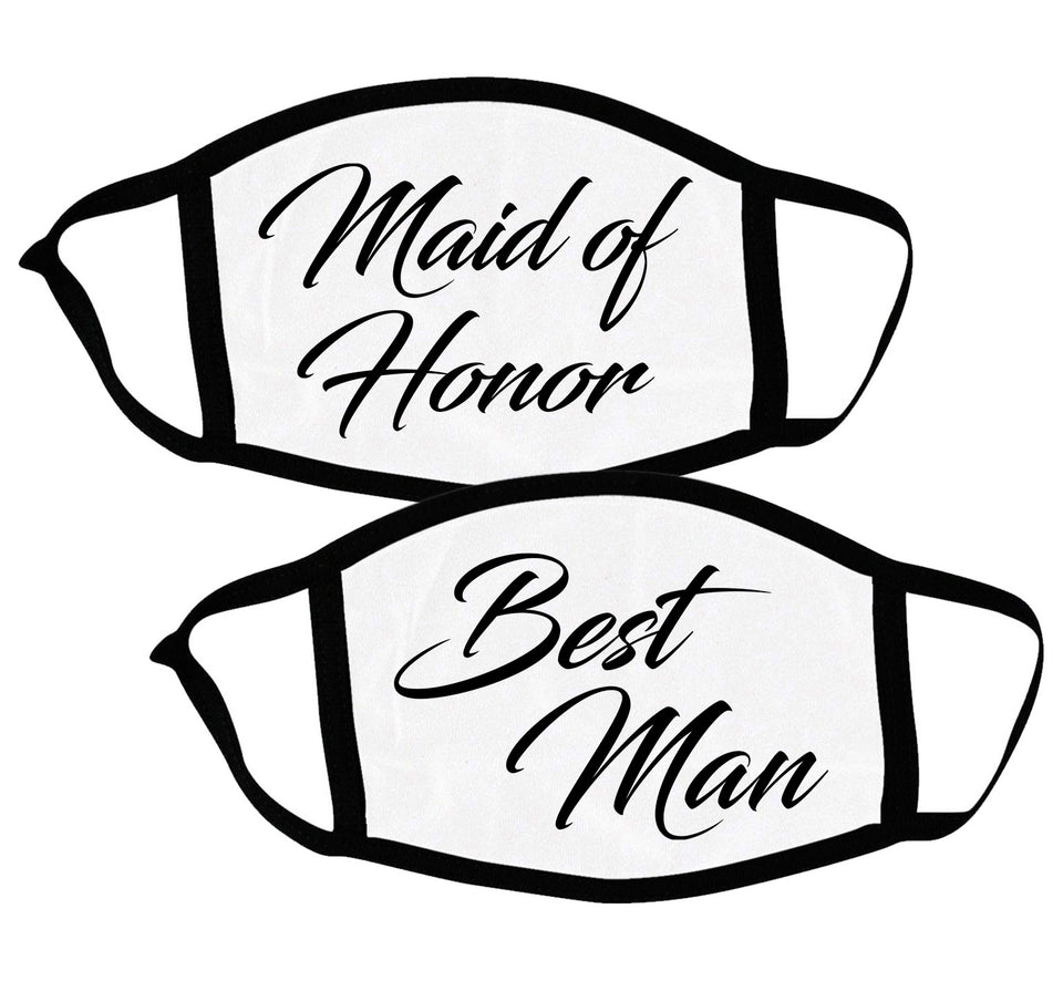Maid of Honor & Best Man - Couple Face Masks