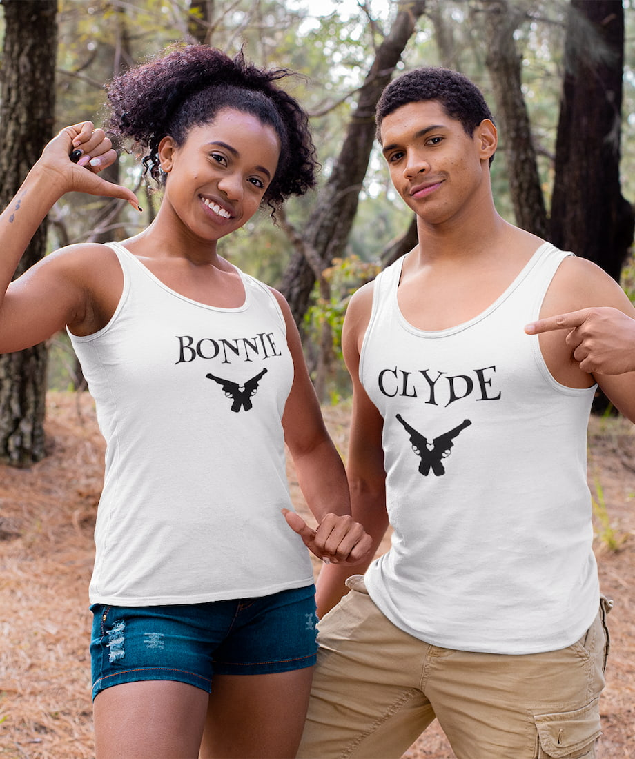 Clyde & Bonnie - Couple Tank Tops