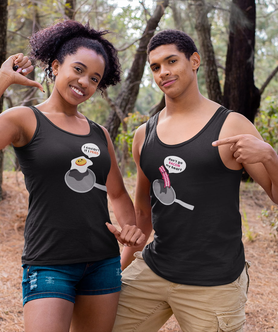Bacon & Egg - Couple Tank Tops