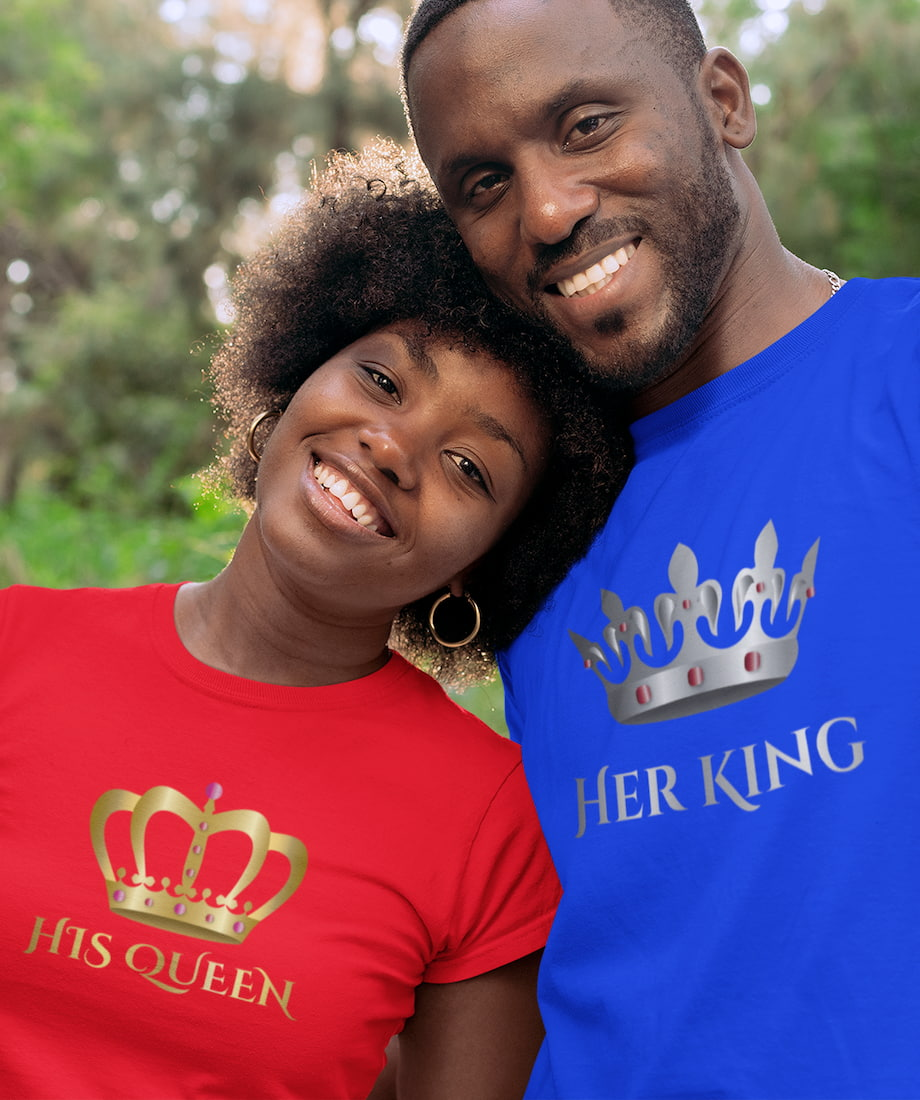 Keep Calm Because I Am Her Prince & His Princess - Couple Shirts